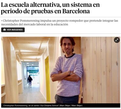La Vanguardia: La escuela alternativa, un sistema en periodo de pruebas en Barcelona